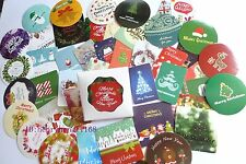 1 box 45 PCS merry Christmas gift Happy New Year diary envelope label stickers