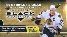 2010-11 UPPER DECK DIAMOND Nhl Hockey pasatiempo caja BLACK