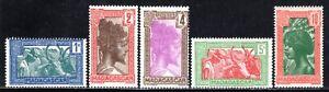 1930-44 Madagascar SC# 147-151 - Sakalava Chief - 5 Different Stamps - M-H