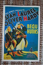Beau Hunks Lobby Card Poster Stan Laural & Oliver Hardy