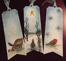 3 Handmade Christmas Animals Bookmarks