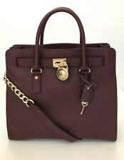 Michael Kors * Hamilton NS Large Leather Tote Bag in Claret COD PayPal