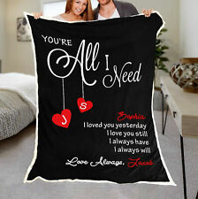 Personalized Couple Quilt Blanket, Anniversary Gift For Him Her, Couples Gift