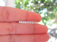 .65 Carat Diamond White Gold Half Eternity Ring 14k HE07 MTO sep *