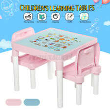 Household Kids Learning Table Desk & Chairs Set For Boys Or Girls Toddler Gifts