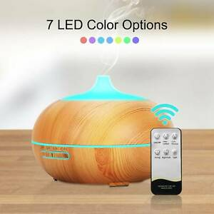 Essential Oil Diffuser Aromatherapy LED Ultrasonic Humidifier Air Purifier