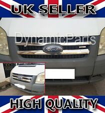 FORD TRANSIT MK6 MK7 CHROME FRONT GRILL COVER STAINLESS STEEL 2000-2013