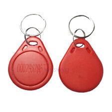 100pcs 125KHz EM4100 Proximity Induction Door Access RFID Tag Fob Red Color