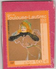 TIMBRE YVETTE GUILBERT CHANTANT - TOULOUSE-LAUTREC (2001)