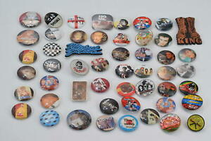Genuine Vintage Mixed Bundle Pin Back Badges Music Madness Queen U2 & More x51