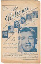 PATIENCE  le théâtre des enfants Roland PILAIN Paroles FALJOR Musique RUFF 1946