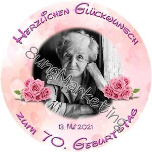 Tortenaufleger Rosen  Fototorte Zuckerbild mit Foto und Text individuell (746)