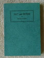 1944 Signed Fact and Fiction by Philip Echard Tri-State Poet Michigan Ohio India