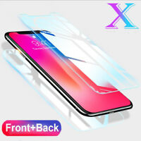 For iPhone XS Max XR XS 8 7 6 Plus Full Body Front+Rear Temper Glass Screen Film