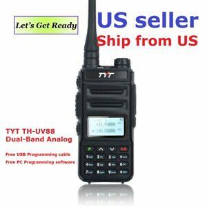 TYT TH-UV88 Talkie Walkie VHF/UHF Dual Band Analog Two-Way Radio      US Seller
