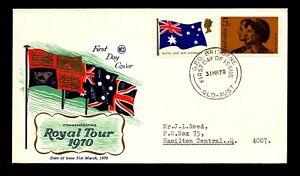 Australia 1970 Royal Visit FDC / WCS Cachet / Brisbane - L14426