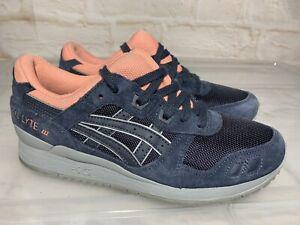 Near New Womens ASICS Gel Lyte III 3 Blue Peach Sneakers US 7 #22373