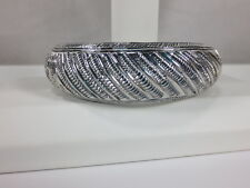 "Heavy Wide Handmade Cuff Bracelet 925 Sterling Silver 6.5"" Interior 49 grams"