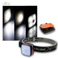 Stirnlampe mit Akku, 3W Cree LED Kopflampe Helmleuchte per USB aufladbar Camping
