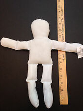 "WHOLESALE LOT of 6 NEW STUFFED Natural MUSLIN DOLLS  12"" TALL DOLL BODIES DOLLS"