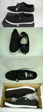 New Mens 13 DC Standard TX All Black Textile Canvas Skate Shoes $55