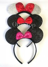 3 Minnie Mouse  Red Silver Pink Bow-Mickey Mouse Ears Headband Disney adult/kid