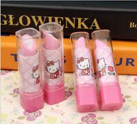 New Hello Kitty Lipstick Design Pink & White Eraser Rubber For Girls 1 Piece
