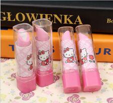 NEU Hello Kitty Lippenstift Design Pink & Weiß Radierer Rubber für Mädchen 1 Stück