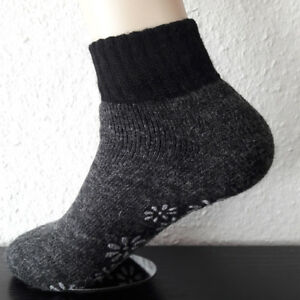 Ladies ABS Stopper Socks Slippers with Wool And Alpaca Wool Anthra 35 To 42