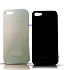 iPHONE 5 Hard Back Black White Plastic Thick Cover Case Protector For Iphone 5