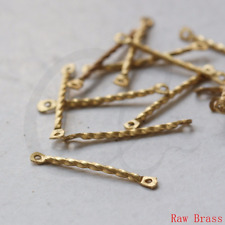 80 Pieces Raw Brass Connector - Link - Bar 22x1.5mm (3363C-L-127)