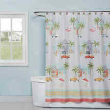 By The Surf 72-Inch x 70-Inch Fabric Shower Curtain