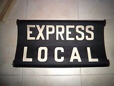 "NYC SUBWAY ROLL SIGN NY BMT LARGE 24"" WIDE ROUTE EXPRESS LOCAL URBAN TRANSIT ART"