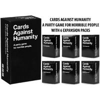 Cards Against Humanity Base Set + Expansion 1 to 6 Horrible People Party Game