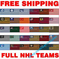 FULL Deluxe NHL Hockey Teams Stars Stripes Flag Banner 3x5 ft - PICK YOUR TEAM