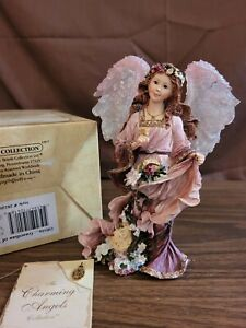 Boyds Collection The Charming Angels #28220 OLIVIA GUARDIAN OF FLORA Charm