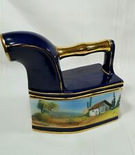 Replica Old Steam Iron Alcobaca Pottery Hand Painted signed Portugal 810