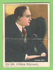 1920s La Mascota Spanish Film Star cigarette tobacco card #88 Gosta Ekman