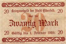 Germany 20 Mark 1918 Elberfeld 4327 00004000 66