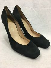 Black Suede High Heels Cole Haan Pumps Womens 8.5 B Shoes Stilettos Leather.