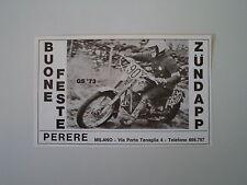 advertising Pubblicità 1972 MOTO ZUNDAPP GS 125