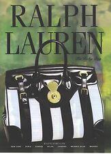 PUBLICITE ADVERTISING 2007  RALPH LAUREN  sacs maroquinerie