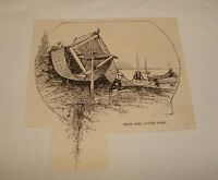 1886 magazine engraving ~ SIENE REEL, Fishing Net