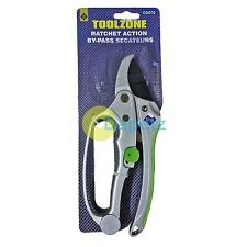 Deluxe Ratchet Secateurs Garden Pruners Pruning Secateur 200mm Work Tool