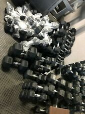 New Dumbbells Hex Rubber Coated from 30lb 35lb 40lb 45lb 50lb Dumbbell