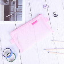 Clear Exam Pencil Case S/L Transparent Simple Mesh Zipper Stationery Bags 2_7