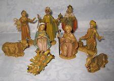 ++  9 Krippenfiguren bis 10 cm  Figur Krippe Italy ++Hhj