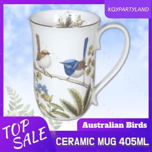 405ml Ceramic Mug Australia Bird Kookaburra Blue Wren Coffee Tea Cup Xmas Gift