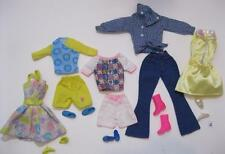 5 COMPLETE Barbie Fashion Doll Basics Outfit Ensemble with Matching Shoes Lot #4