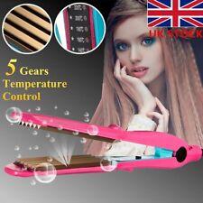 2-in-1 Hair Crimper Curler & Straightener Crimping Wave Ceramic titanium Plate